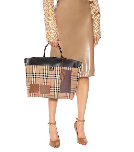 Burberry - Society Medium canvas tote - mytheresa.com