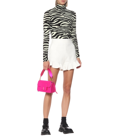 MSGM - Ruffled high-rise cady shorts - mytheresa.com