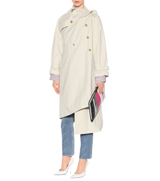 Balenciaga - Pulled cotton trench coat - mytheresa.com