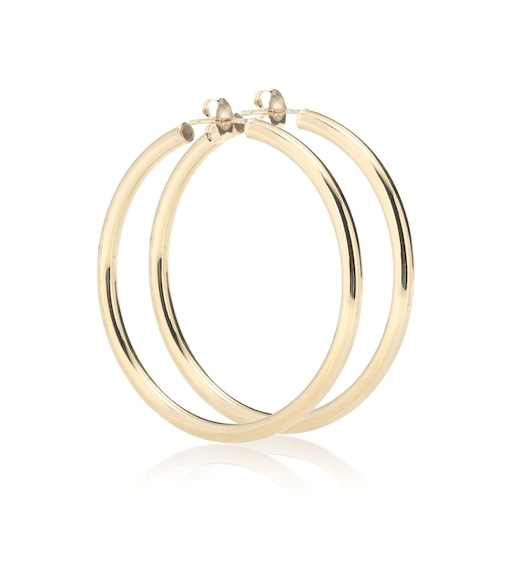 Loren Stewart - Medium Thick Tube Hoops 10kt gold earrings - mytheresa.com