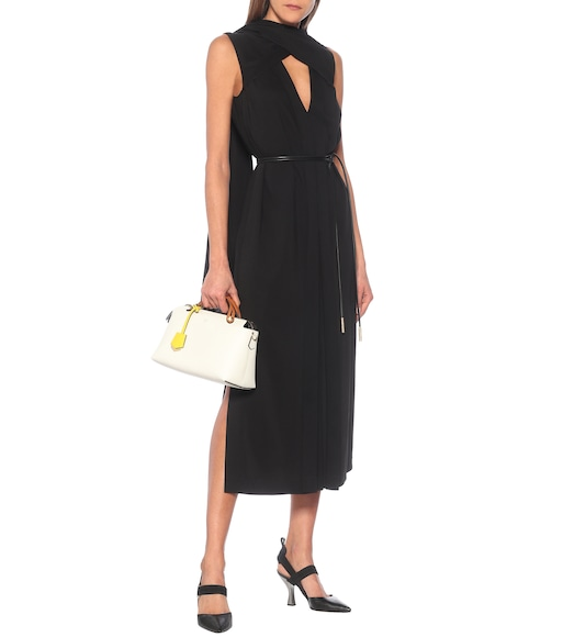 Fendi - Tie-neck crêpe midi dress - mytheresa.com