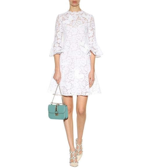 Valentino - Embroidered lace dress - mytheresa.com