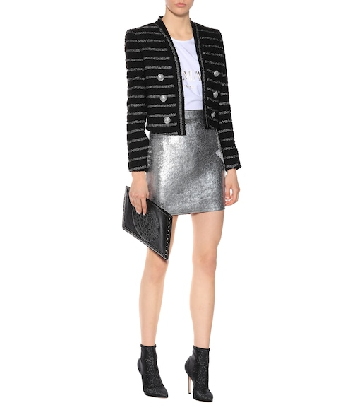 Balmain - Metallic striped tweed jacket - mytheresa.com