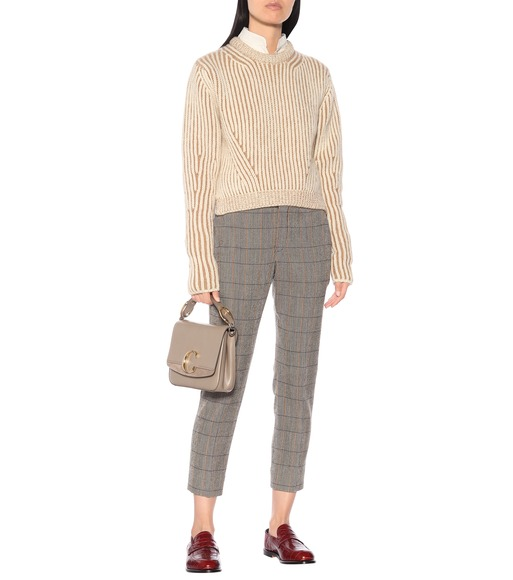 Chloé - Checked stretch-wool pants - mytheresa.com