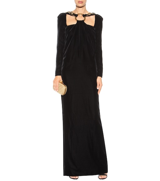 Tom Ford - Embellished velvet gown - mytheresa.com