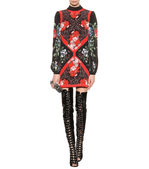 Alexander McQueen - Silk mini dress - mytheresa.com
