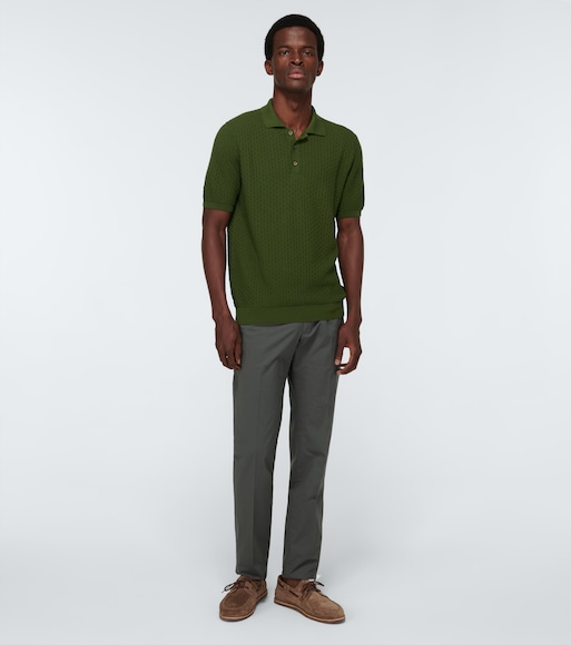 Zanone - Textured cotton polo shirt - mytheresa.com