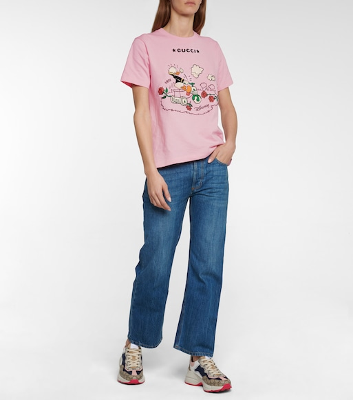 Gucci - x Disney® embroidered cotton T-shirt - mytheresa.com