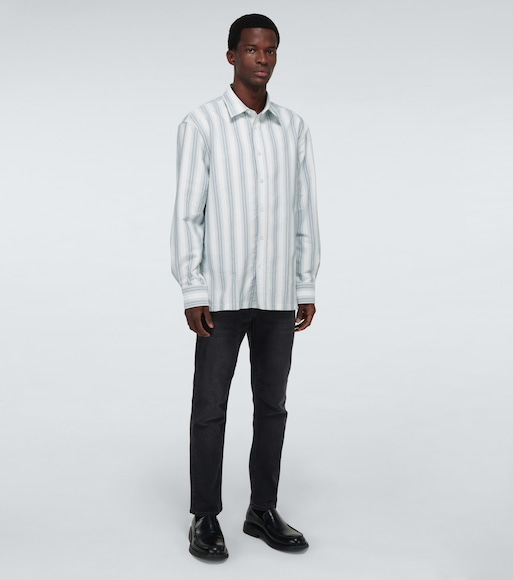 Acne Studios - Saipen striped long-sleeved shirt - mytheresa.com