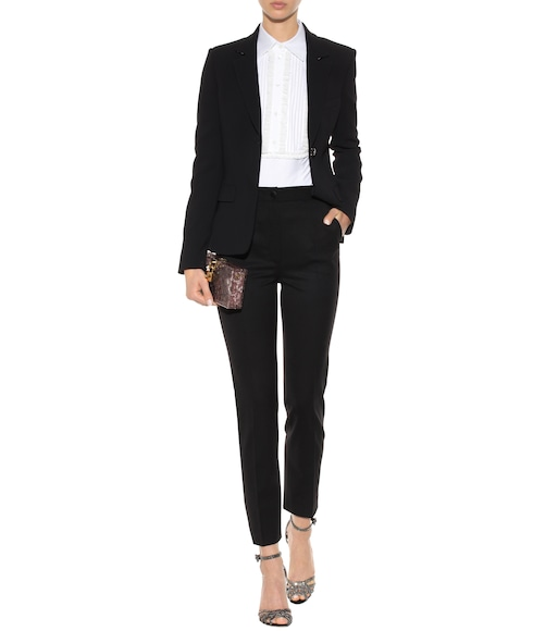 Dolce & Gabbana - Wool and silk tuxedo trousers - mytheresa.com