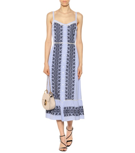 Veronica Beard - Joni embroidered cotton midi dress - mytheresa.com