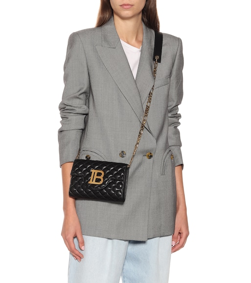 Balmain - Quilted Benveloppe wallet on chain - mytheresa.com