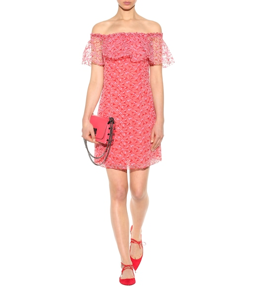 Giamba - Embroidered organza off-the-shoulder dress - mytheresa.com