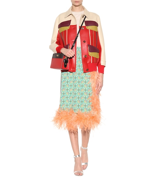 Prada - Feather-trimmed skirt - mytheresa.com