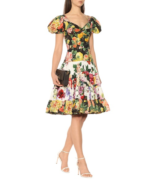 Dolce & Gabbana - Floral-printed cotton dress - mytheresa.com