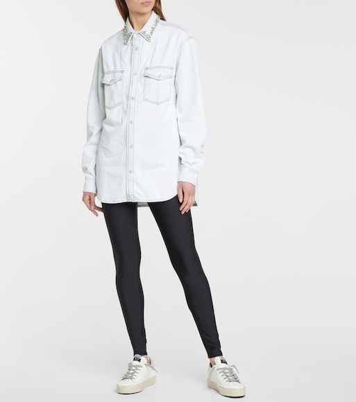 Golden Goose - Embellished cotton chambray shirt - mytheresa.com