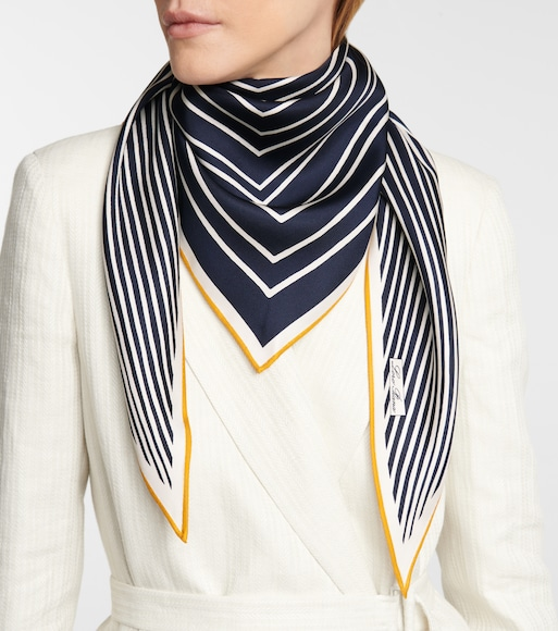 Loro Piana - Lerins striped silk twill scarf - mytheresa.com