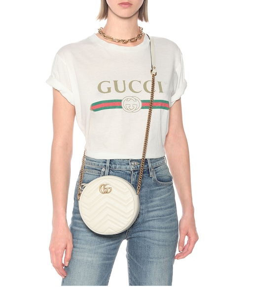 Gucci - GG Marmont Mini leather shoulder bag - mytheresa.com