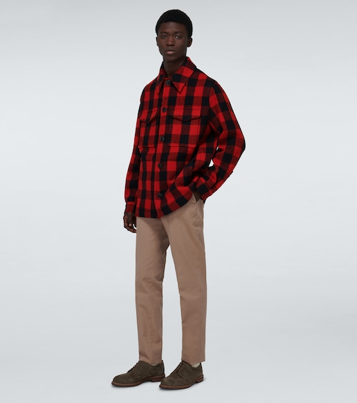 AMI PARIS - Wool checked overshirt - mytheresa.com