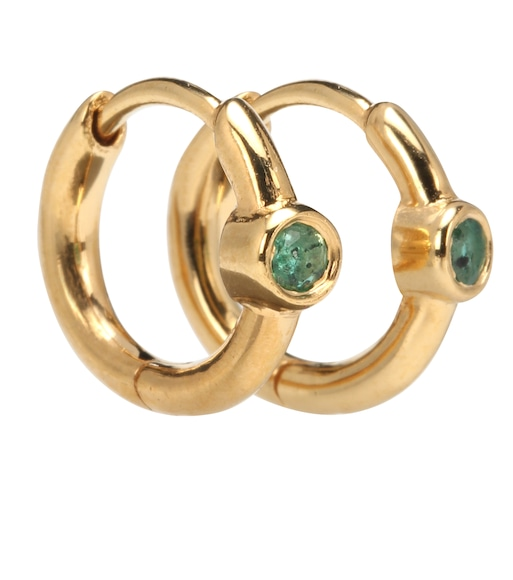 THEODORA WARRE - Emerald Success hoop earrings - mytheresa.com