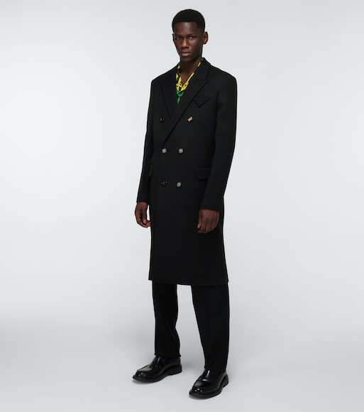 Bottega Veneta - Double-breasted wool overcoat - mytheresa.com