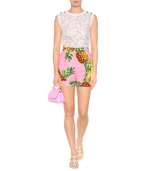 Dolce & Gabbana - Printed cotton shorts - mytheresa.com