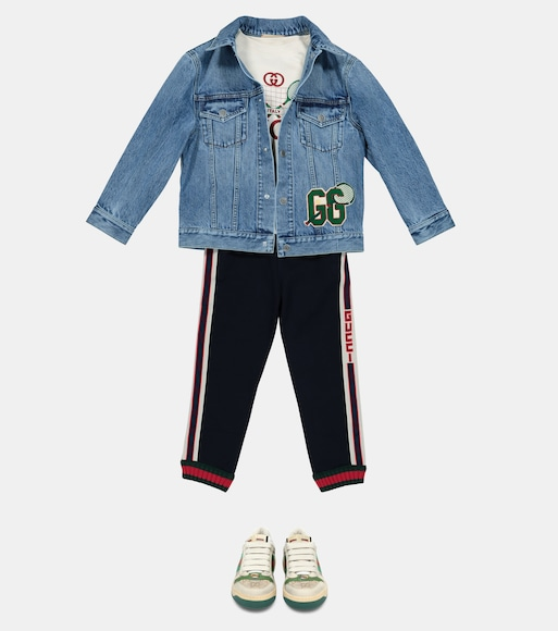 Gucci Kids - Appliquéd denim jacket - mytheresa.com