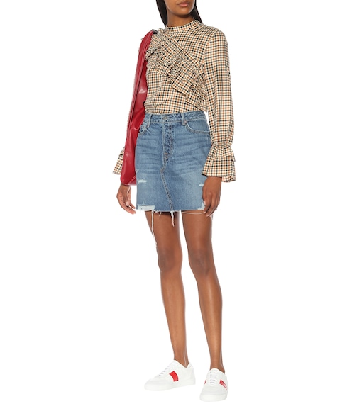 Grlfrnd - The Blaire high-rise denim miniskirt - mytheresa.com