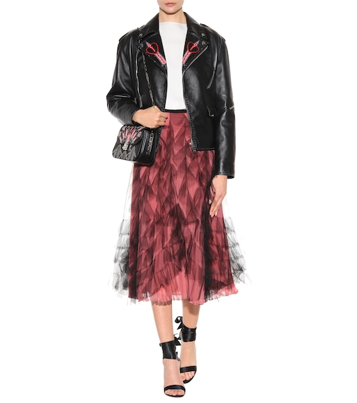 Valentino - Tulle and silk skirt - mytheresa.com