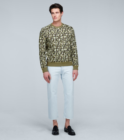 Camouflage print cotton sweatshirt