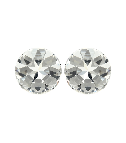 Saint Laurent - Crystal-embellished clip-on earrings - mytheresa.com