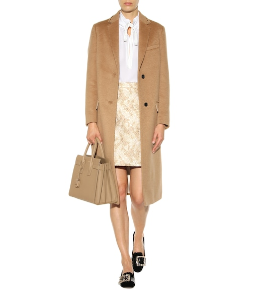 Michael Kors Collection - Metallic jacquard wool and silk-blend miniskirt - mytheresa.com