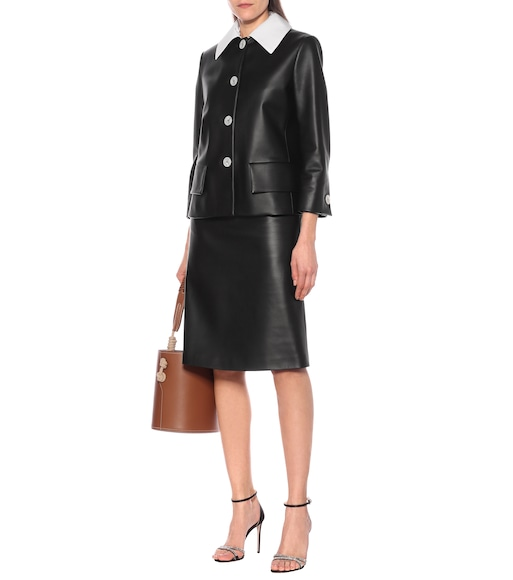 Prada - Leather jacket - mytheresa.com