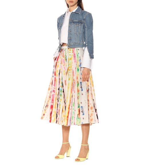 Rosie Assoulin - Pleated stretch-cotton A-line skirt - mytheresa.com