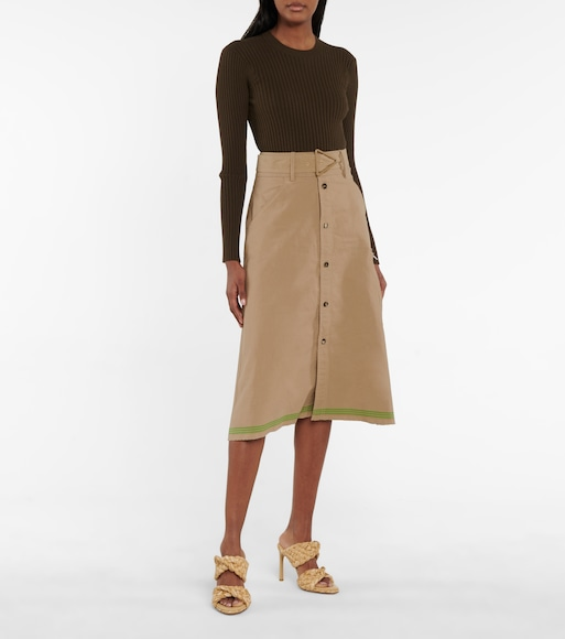 Bottega Veneta - High-rise midi skirt - mytheresa.com