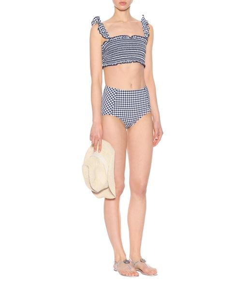 Culotte de bikini à carreaux Boutique En Ligne Pas Cher Trouver Une Grande FSKnupdzY