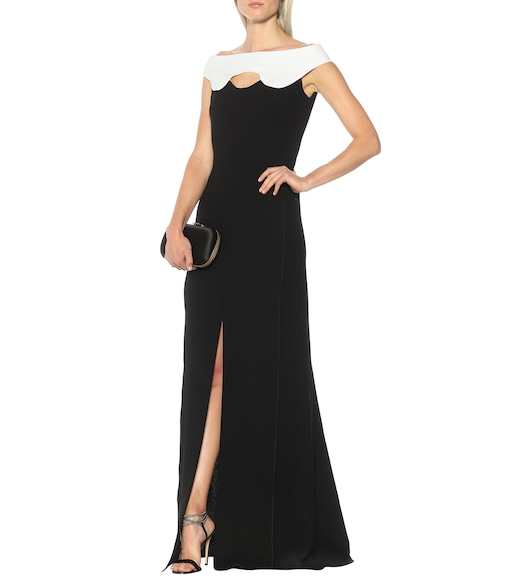 Roland Mouret - Elly double wool-crêpe gown - mytheresa.com