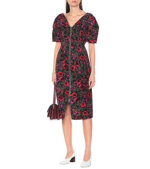 Marni - Floral cotton-blend twill midi dress - mytheresa.com
