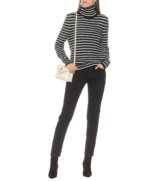 Saint Laurent - Striped mohair-blend sweater - mytheresa.com