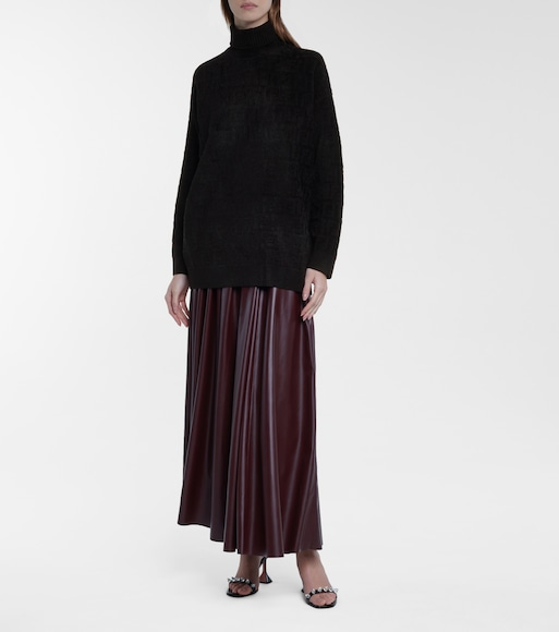 Fendi - FF stretch-velvet turtleneck sweater - mytheresa.com