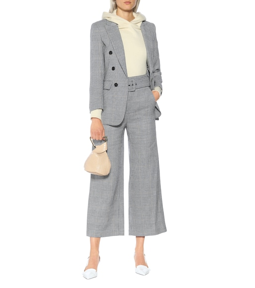 Veronica Beard - Dexter checked linen and cotton pants - mytheresa.com