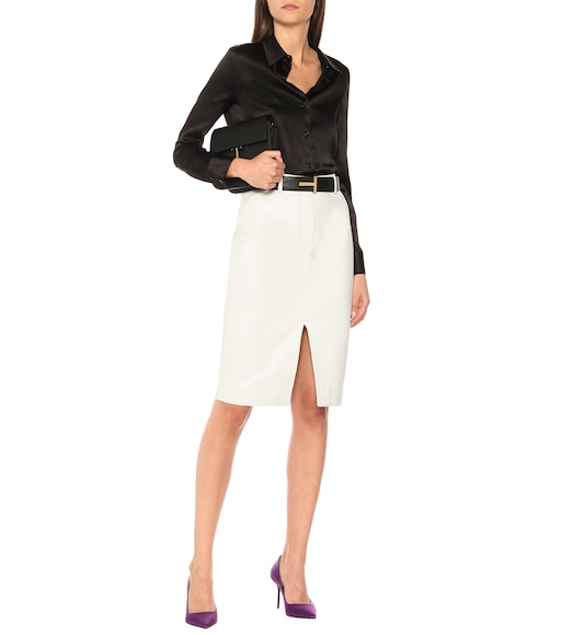Tom Ford - Leather pencil skirt - mytheresa.com