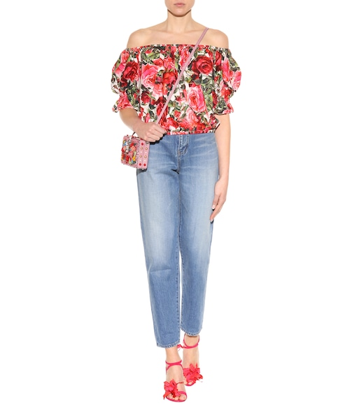 Dolce & Gabbana - Printed cotton top - mytheresa.com