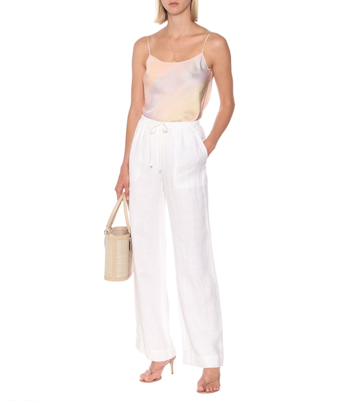Vince - Drawstring wide-leg hemp pants - mytheresa.com