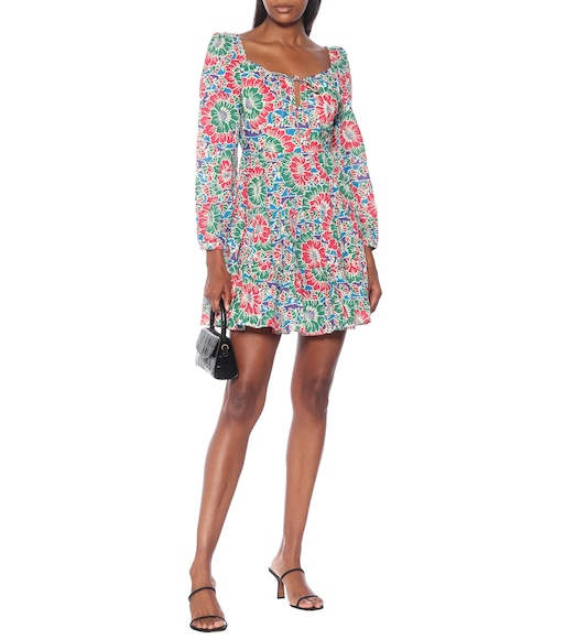 Rixo - Roxy floral cotton minidress - mytheresa.com