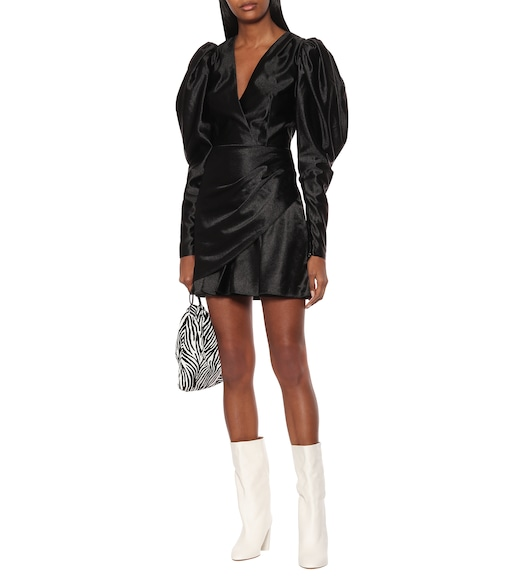 ROTATE BIRGER CHRISTENSEN - Puff-sleeve satin minidress - mytheresa.com
