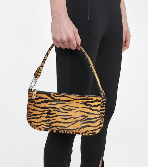 By Far - Rachel tiger-print calf hair shoulder bag - mytheresa.com