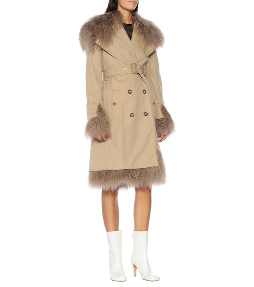 Burberry - Shearling-trimmed trench coat - mytheresa.com