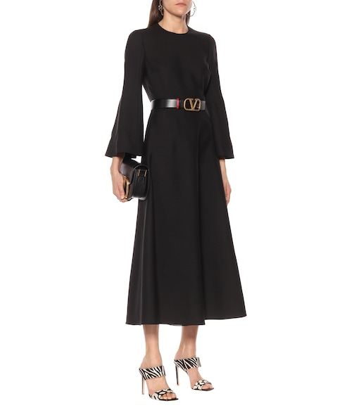 Valentino / Garavani - Valentino wool and silk midi dress - mytheresa.com