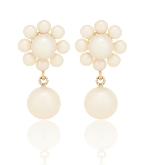 Sophie Bille Brahe - Margherita Perle 14kt yellow-gold earrings with pearls - mytheresa.com